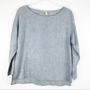 Eileen Fisher Organic Linen Chambray Shirt XS